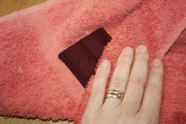 Torka av med en handduk