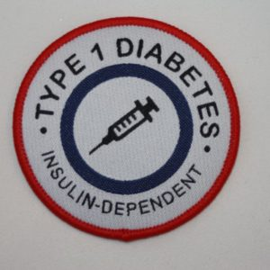 Vävt märke – Type 1 diabetes