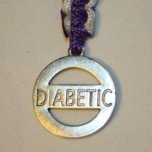 """Nyckelring med """"Diabetic"""""""